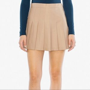 AMERICAN APPAREL khaki mini skirt
